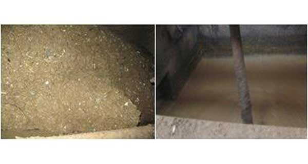 Contaminated Infeed, Clean Cyclone Outfeed
