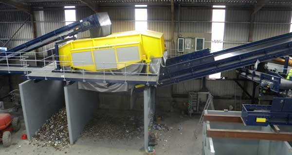 IMT Ballistic Separator in Plastic and Paper Recycling Facility