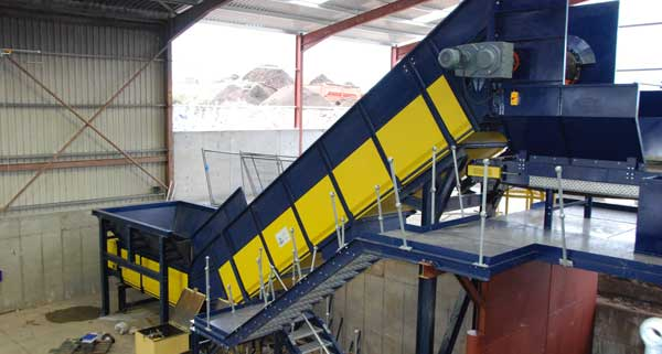 KMH Infeed Conveyor at Recycling Facility