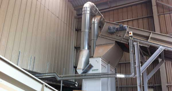 KMH Wood Clean Up System Air Separation