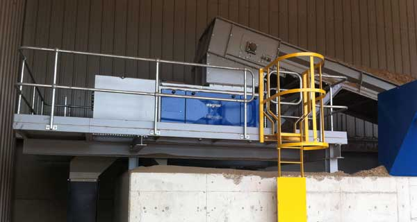 KMH Wood Clean Up System Metal Separation