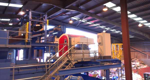 Redwave Optical Sorter in Dry Recycling Facility