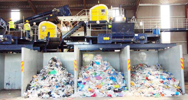 Redwave Optical Sorter in Plastic and Paper Recycling Facility