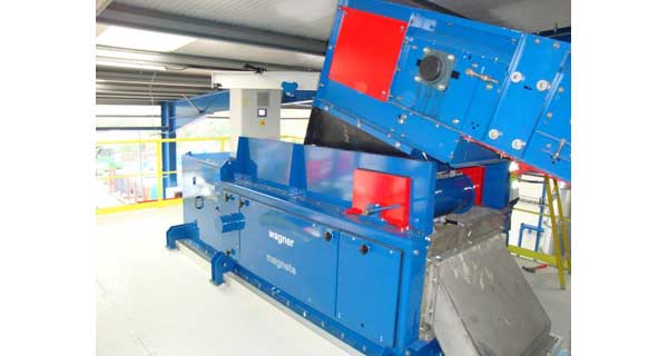 Wagner Magnete Eddy Current Separator with Drum Magnet fed via a Belt Conveyor